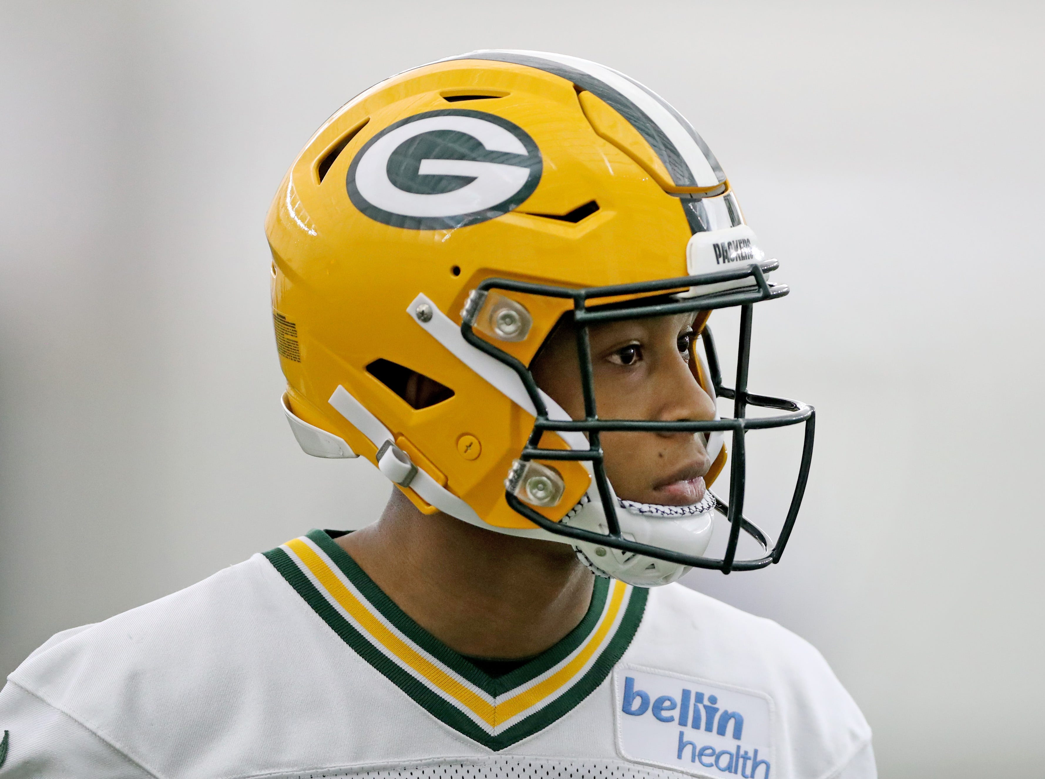 Green Bay Packers wide receiver Teo Redding (88) during practice Wednesday, November 21, 2018 inside the Don Hutson Center in Ashwaubenon, Wis.