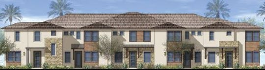 Rendering of proposed townhouses in University Park in Palm Desert