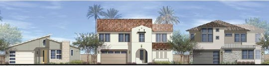 Rendering of some of the proposed single-family homes in University Park in Palm Desert