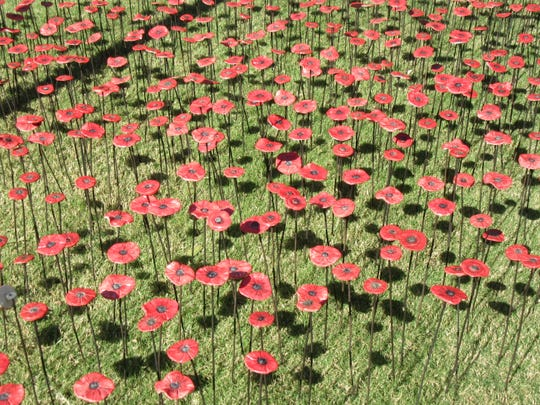 One thousand ceramic poppies