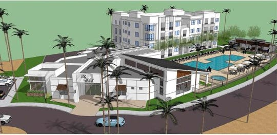 Rendering of the apartment complex at University Park in Palm Desert