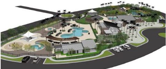Rendering of The Grove, the proposed private park for University Park residents in Palm Desert