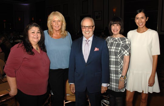 (left to right) Gracie De La Paz, Kathi Petersen, Michael Matthews, Susan Stein, and Paulina Larson all of PALM SPRINGS LIFE.  The Magazine has been a Media Sponsor of NATIONAL PHILANTHROPY DAY  IN THE DESERT since the beginning for the past 12 years!