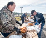 Pensacola's Miracle League fries Thanksgiving turkeys for annual fundraiser