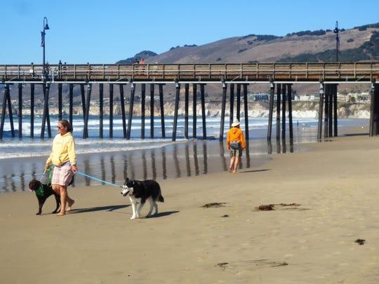 The popular Pismo Beach in San Luis Obispo County, California.