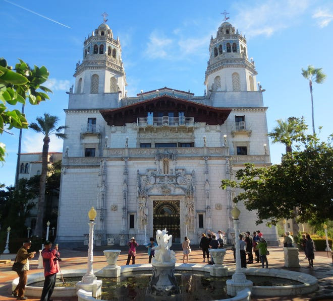 The Hearst Castle in San Simeon, California.