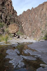 LaBarge narrows in the Superstition Mountains.