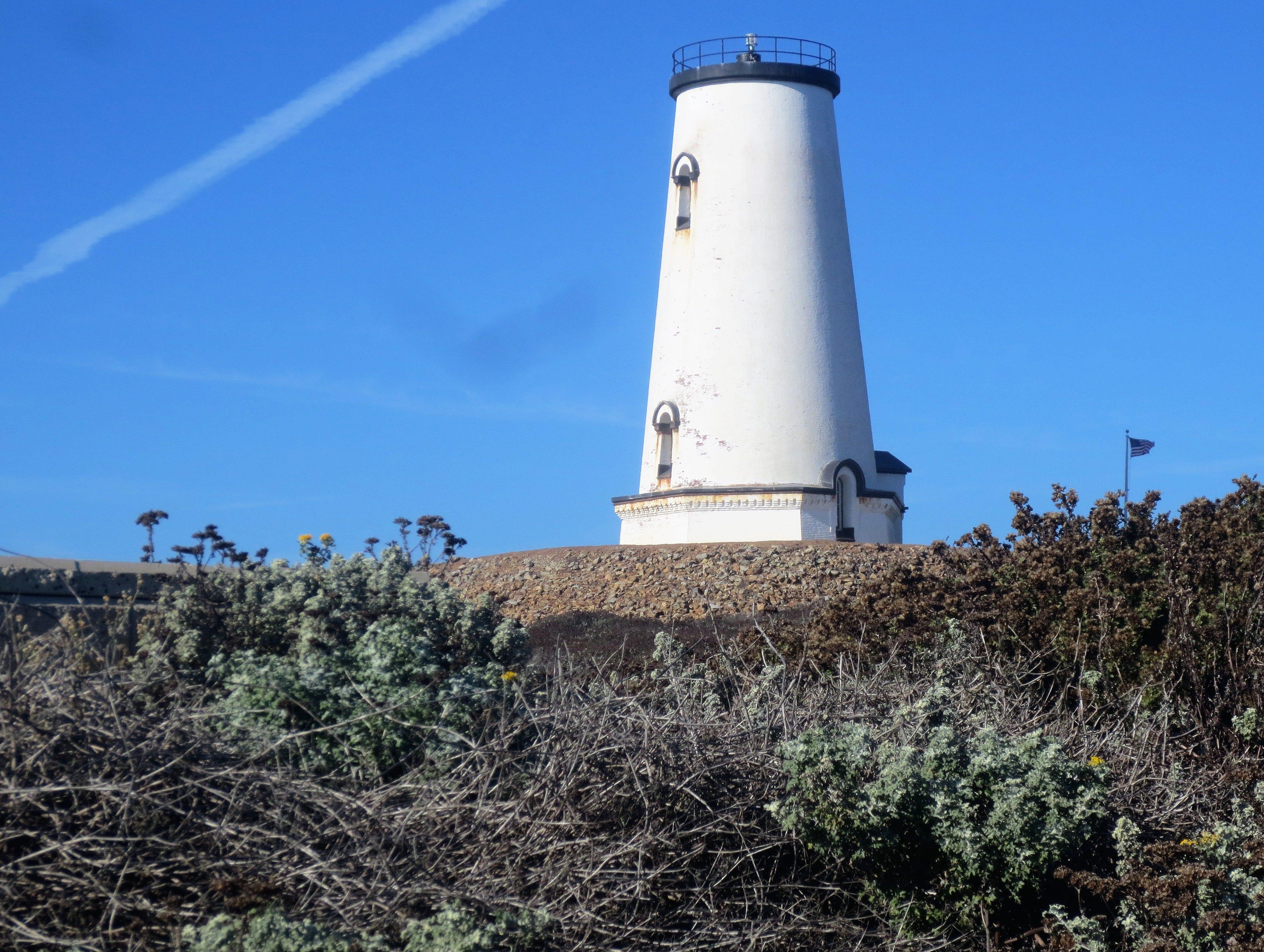 The Piedras Blancas lighthouse.