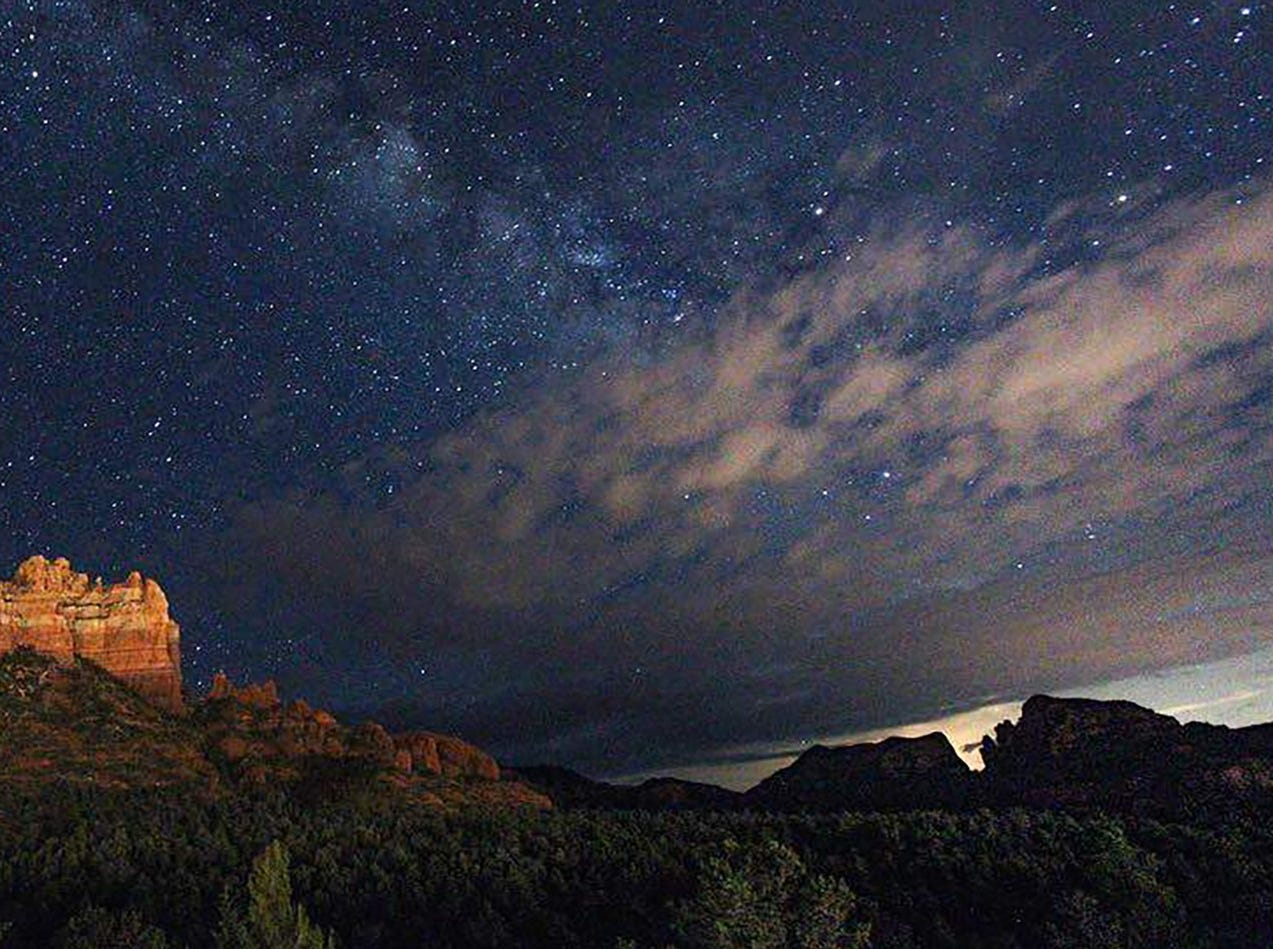 A holiday 3D light show will be projected on Camelhead Rock in Sedona.