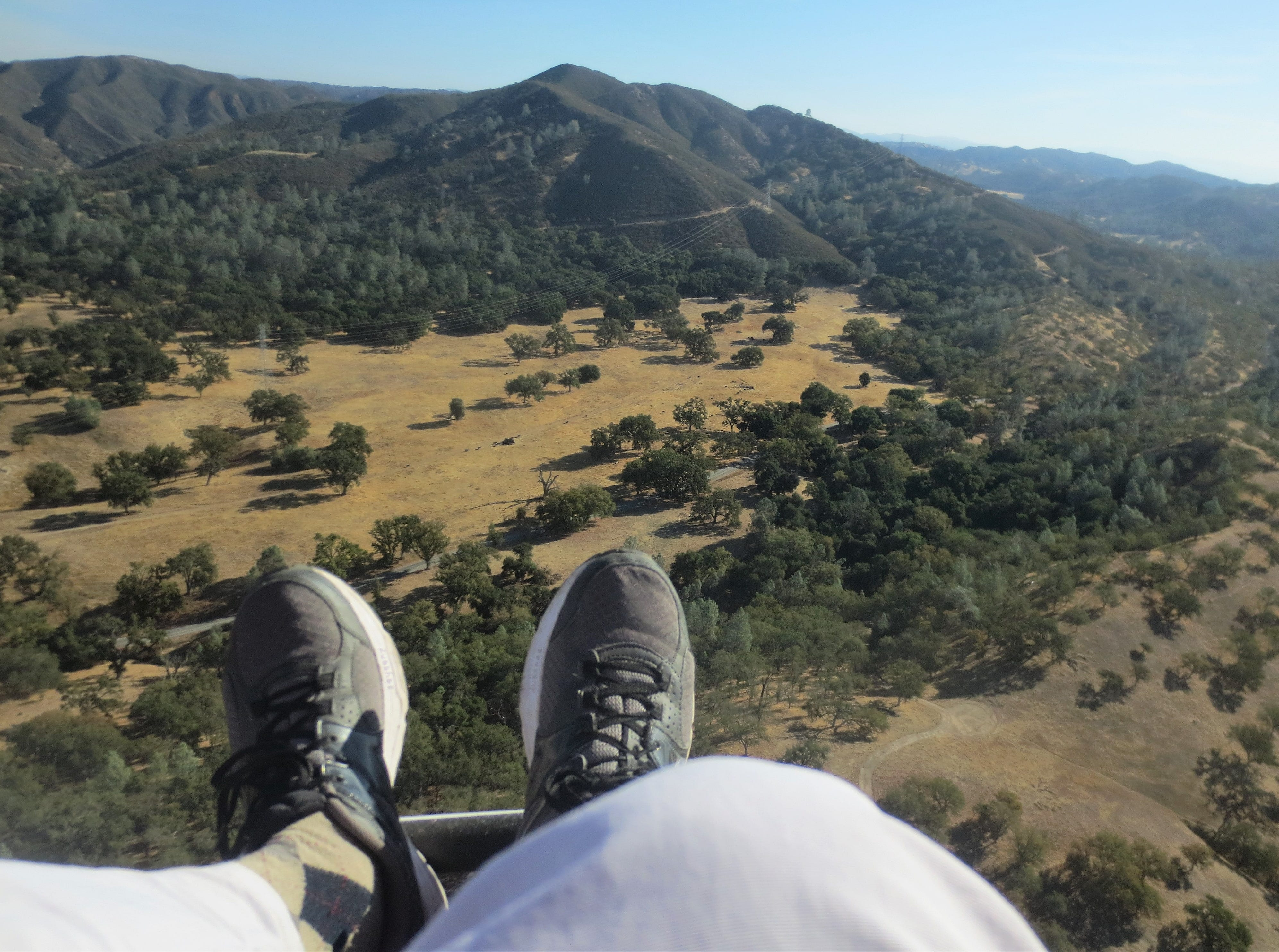The view from a paragliding trip over San Luis Obispo County.