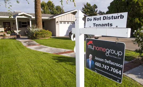 A home being run as an Airbnb is now for sale after experiencing pushback from neighbors in the Royal Crest Villa community of Phoenix Tuesday, Nov. 20, 2018.