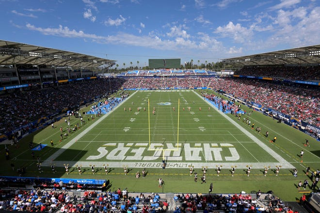 A general view of the StubHub Center in Los Angeles.
