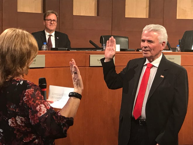 Surprise Councilman Skip Hall is appointed as mayor of Surprise.