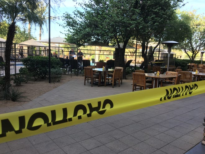 An elderly man died after he drowned in a resort pool at the Westin Kierland Villas on Wednesday.