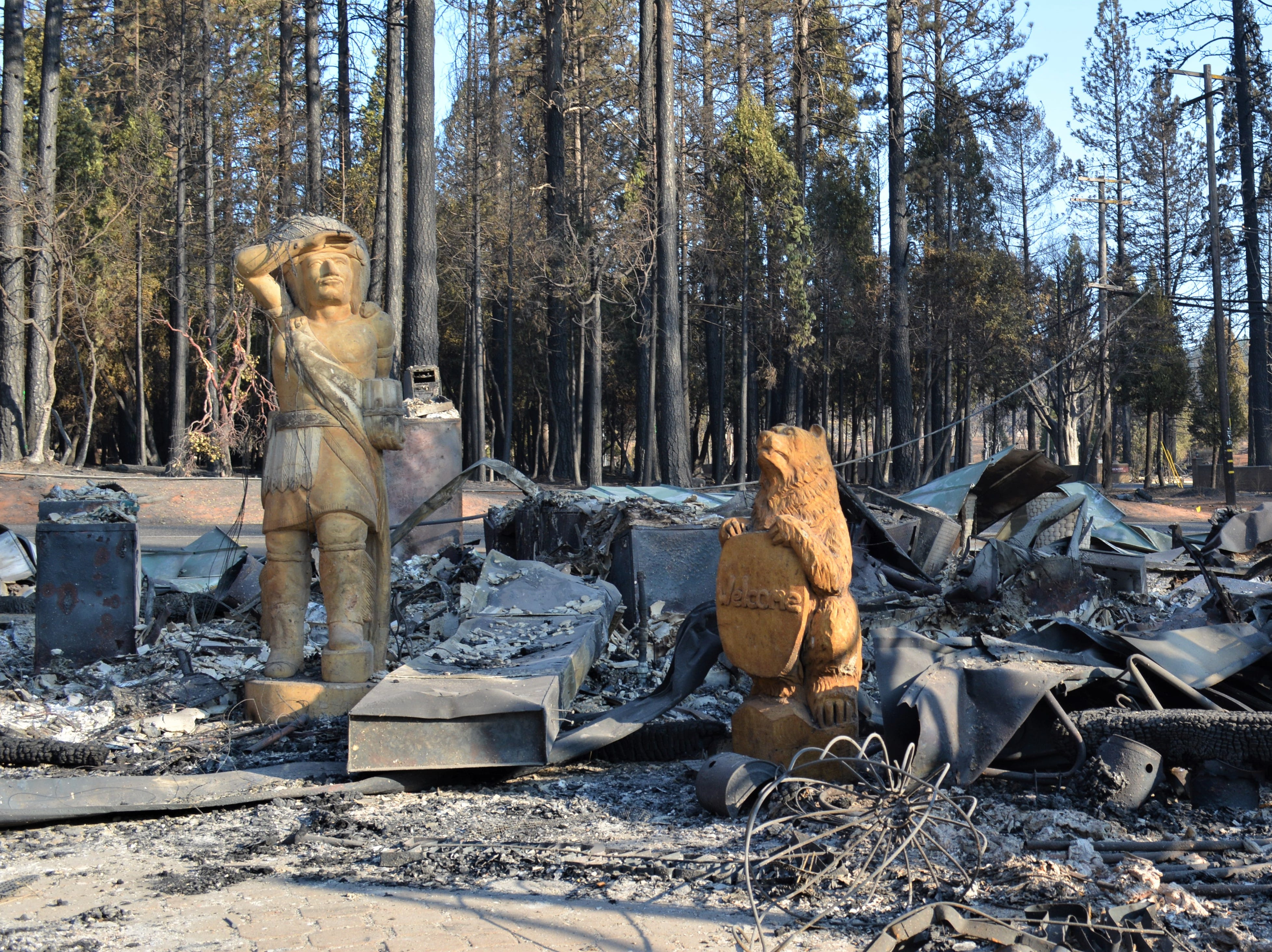 The Camp Fire, which began Nov. 8, 2018, destroyed hundreds of homes and buildings in Paradise, California.