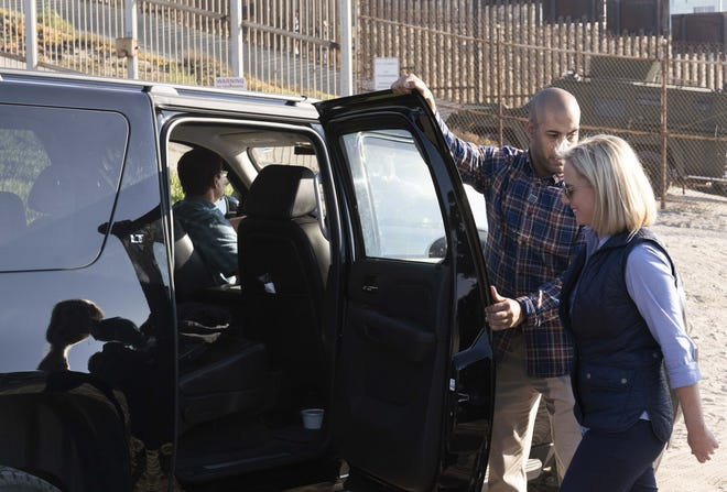 Homeland Security Secretary Kirstjen Nielsen toured at the U.S.-Mexico border fence in San Diego on Tuesday, Nov. 20, 2018.