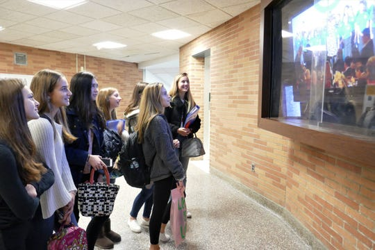 Spackenkill High School students watch the National Blue Ribbon Schools award ceremony via live-stream on Nov. 8.