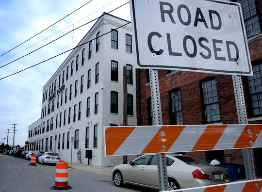 Renovations along York Street, which runs in front of the United Fiber and Data offices and the nearby former York County Prison building, are underway Wednesday, Nov. 21, 2018. United Fiber and Data has purchased the old prison with plans to create a data center to accompany a 400-mile data network it is building. Bill Kalina photo
