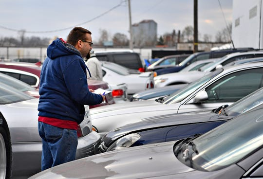 Cars that will be auctioned off by the York County Drug Task Force on Friday, are on display at Schaad Detective Agency in York City, Wednesday, Nov. 21, 2018. The auction will be held at the agency on Roosevelt Avenue, Nov. 23 at 10 a.m. Dawn J. Sagert photo
