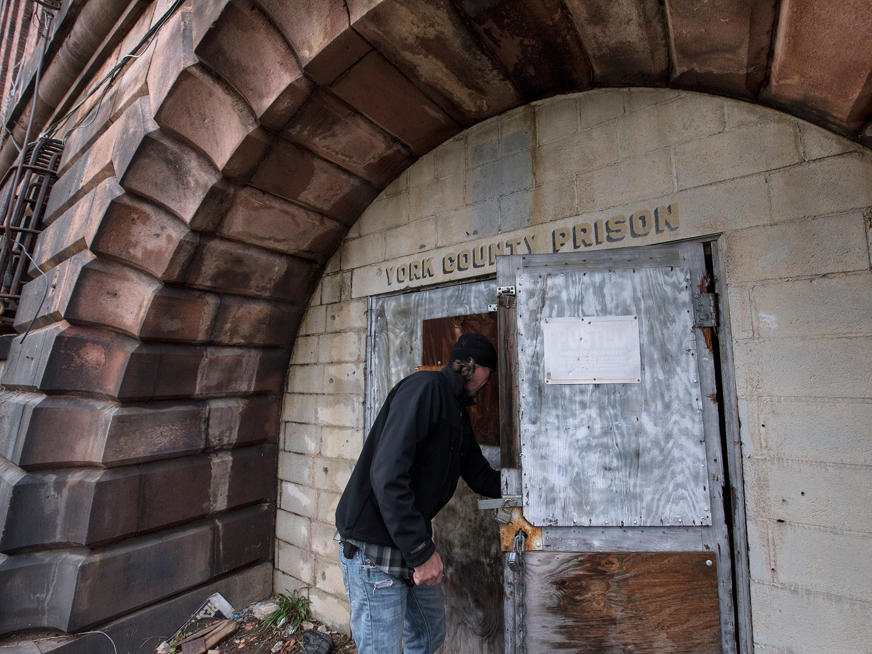 Here is the front entrance to the old York County Prison.