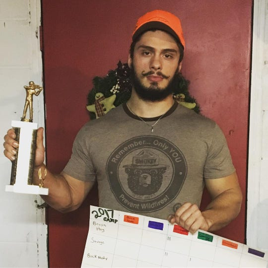 My younger brother Sam took home the Buffone hunting camp trophy last year.