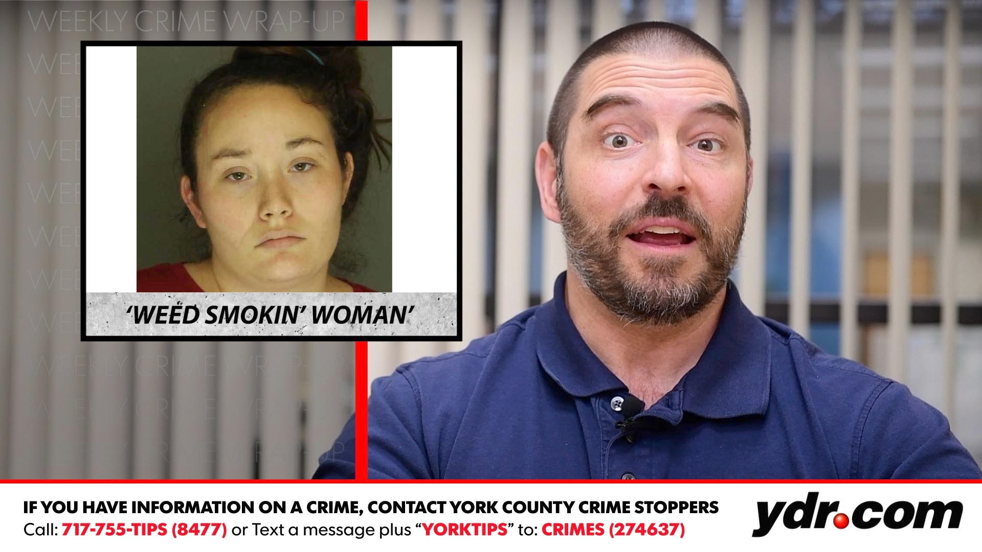 Watch: Weed smokin' woman and other crime stories