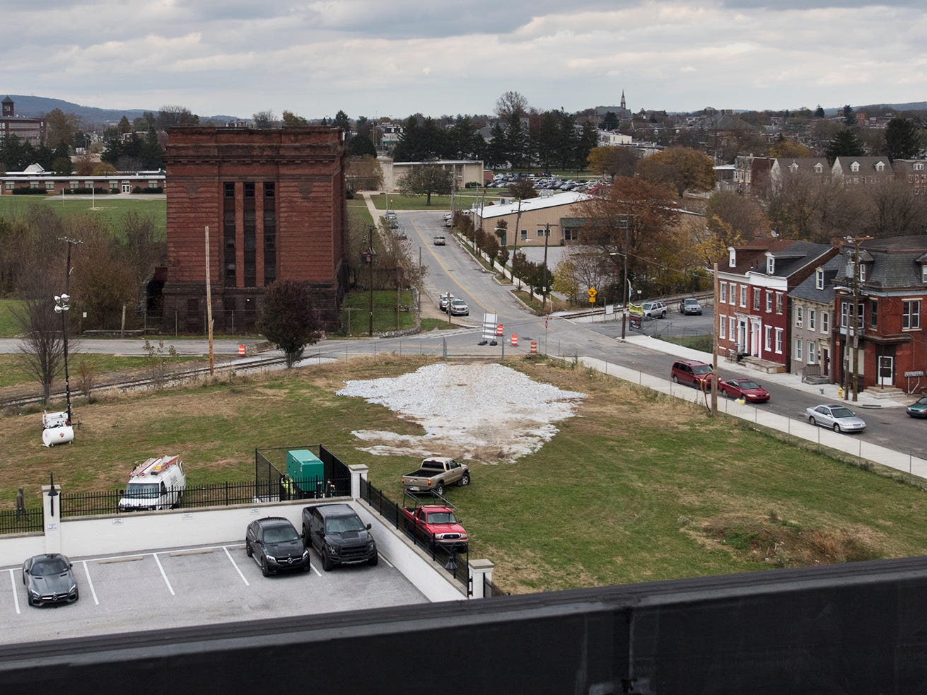 This is a view of the old York County Prison and the surrounding neighborhood from the roof of the Bi-Comp building.