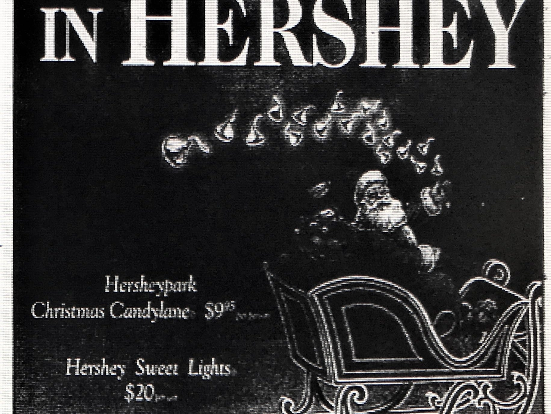 A 2008 ad for Christmas in Hershey event. The promotion appeared in a FlipsidePA insert on Thursday, November 27, 2008.