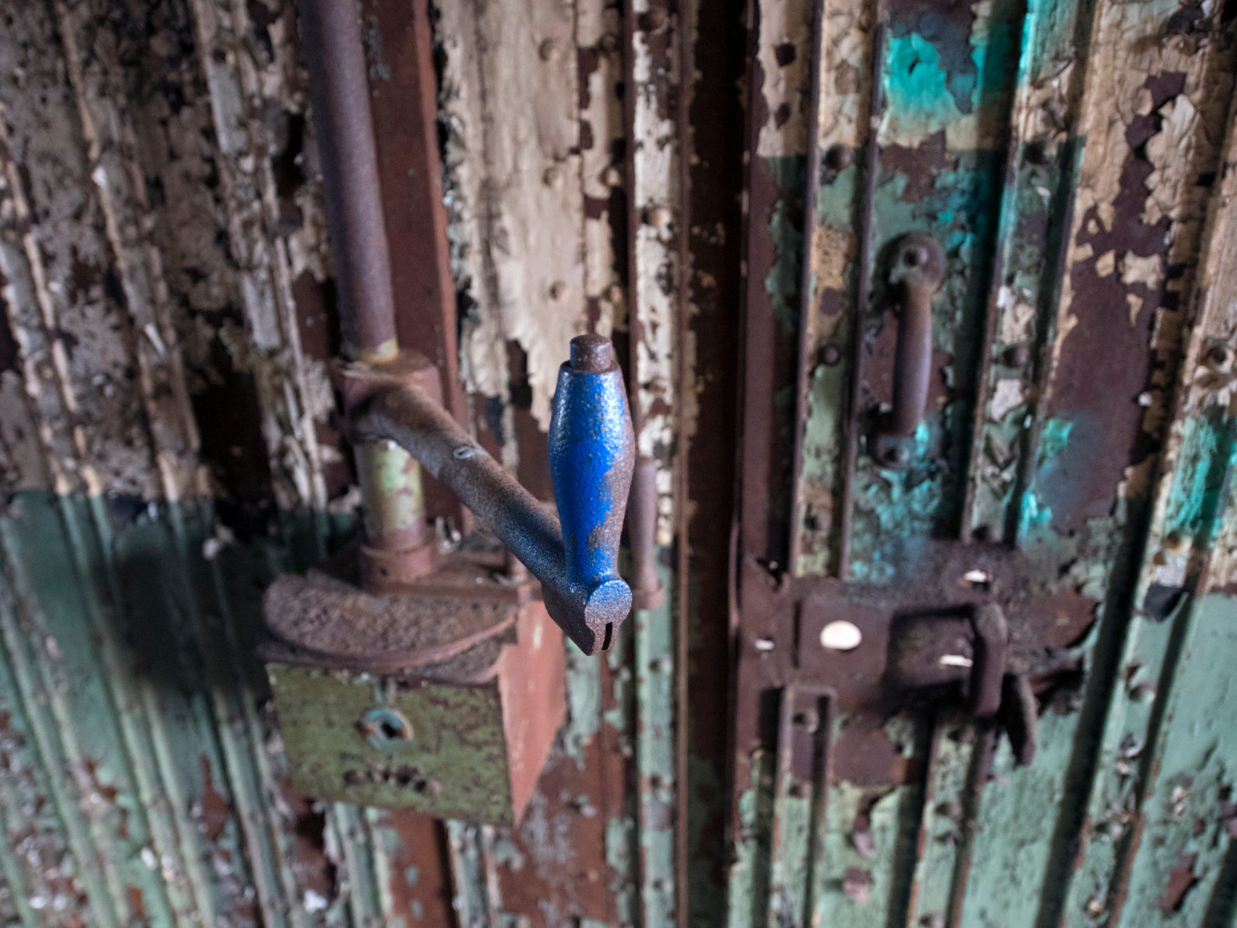 This is a mechanism that could open cells on a cell block inside the old York County Prison.