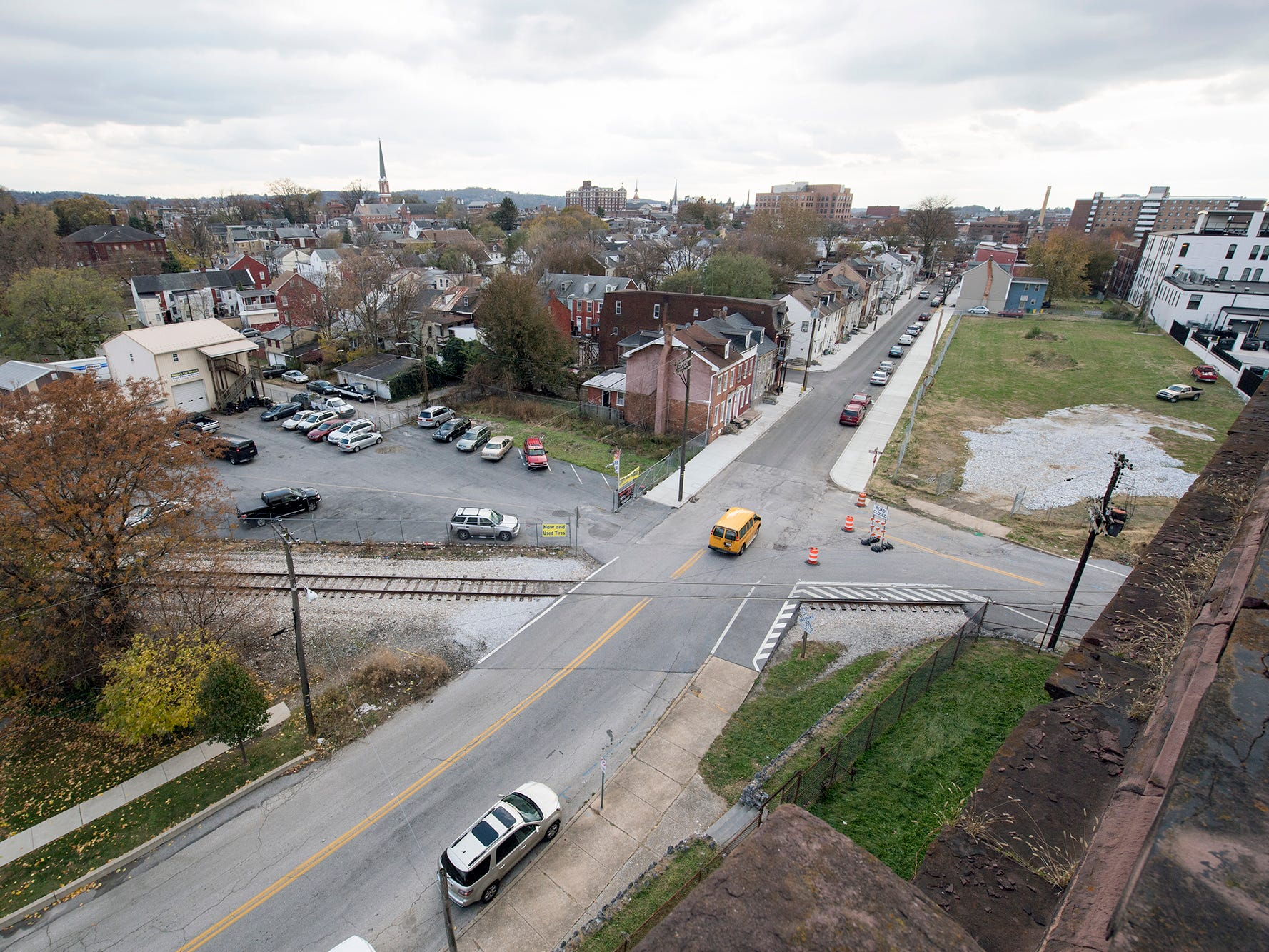 This view is looking across York from the roof of the old York County Prison.