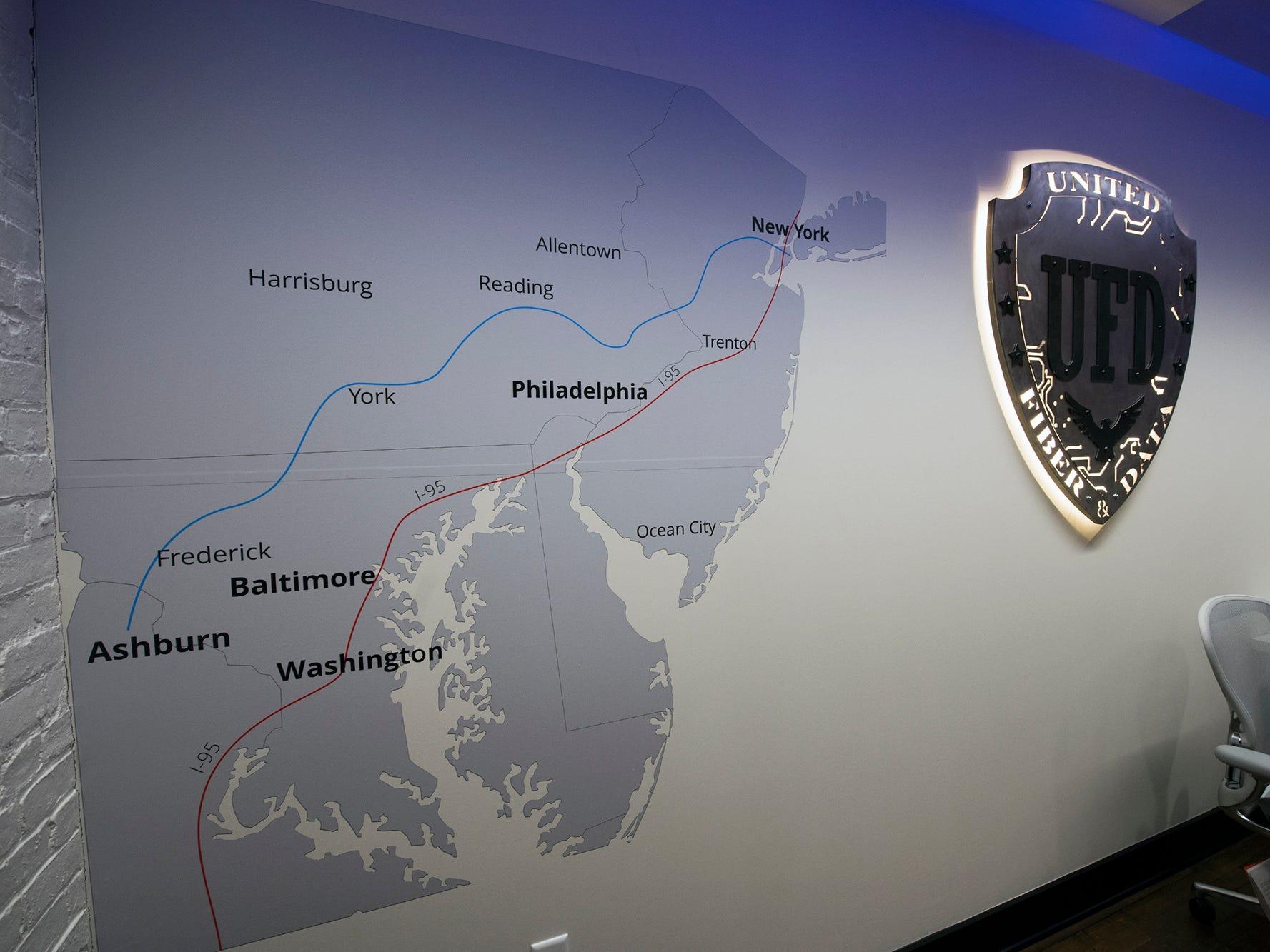 The fiber data line will run from Ashburn, Virginia to New York City.