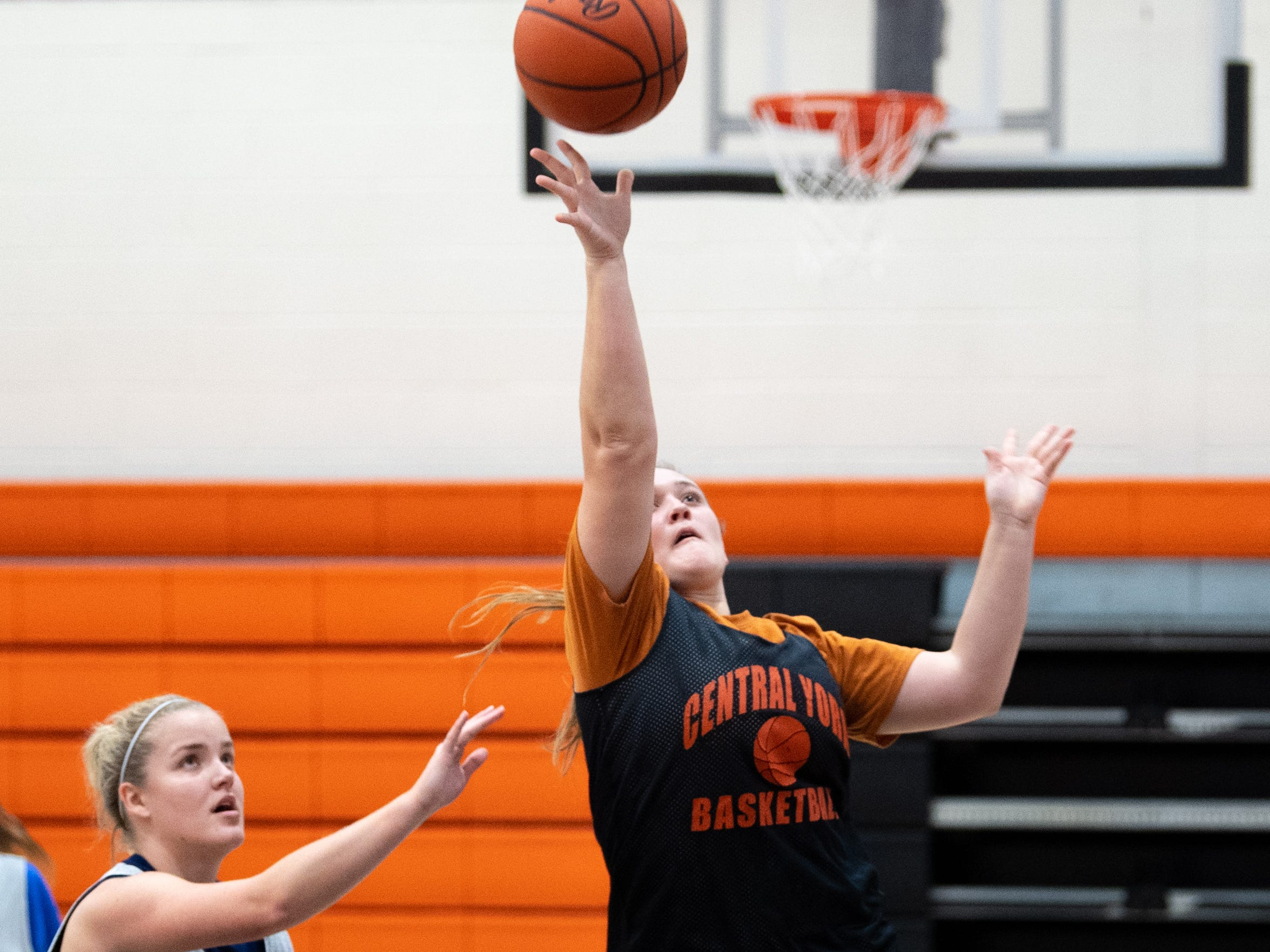 Central York's girls' basketball team scrimmages against each other, Wednesday, November 21, 2018.