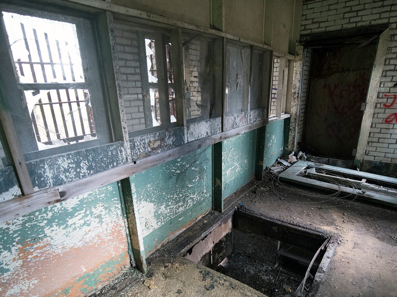 Some say this trap door inside the old York County Prison was part of a gallows.