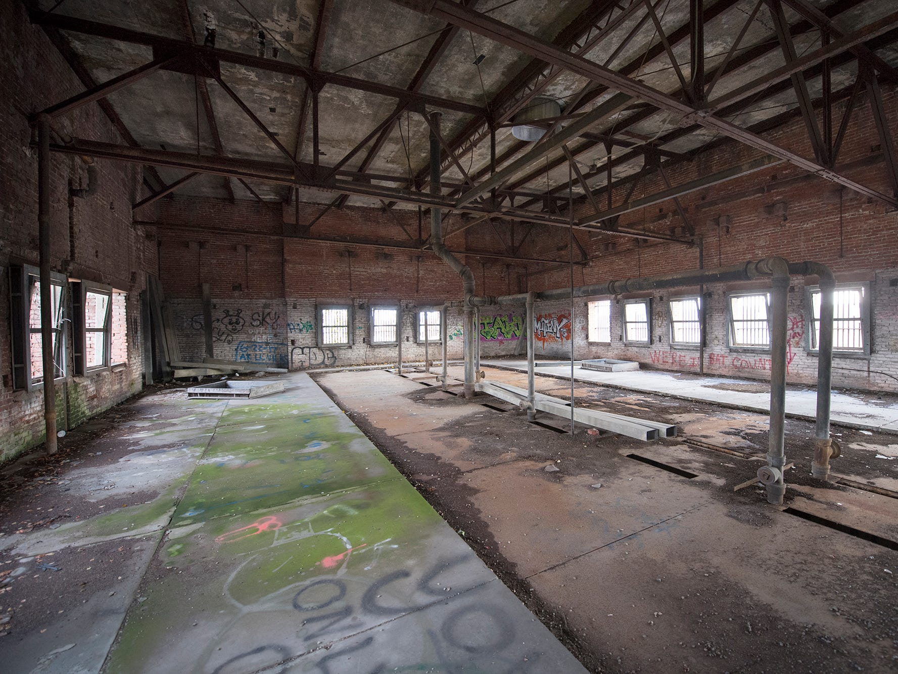This is the unused top floor of the old York County Prison.