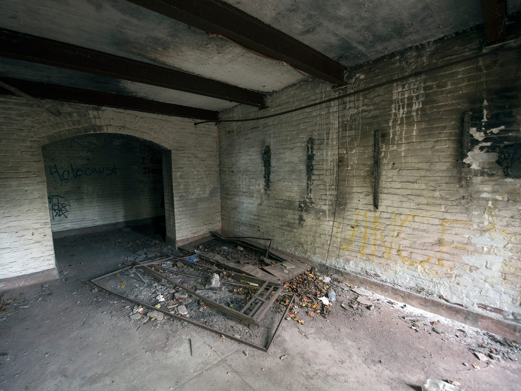 This is a room in the basement of the old York County Prison.