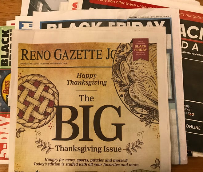 Hungry for news, spots, puzzles and movies? The Thanksgiving Reno Gazette Journal has it all.