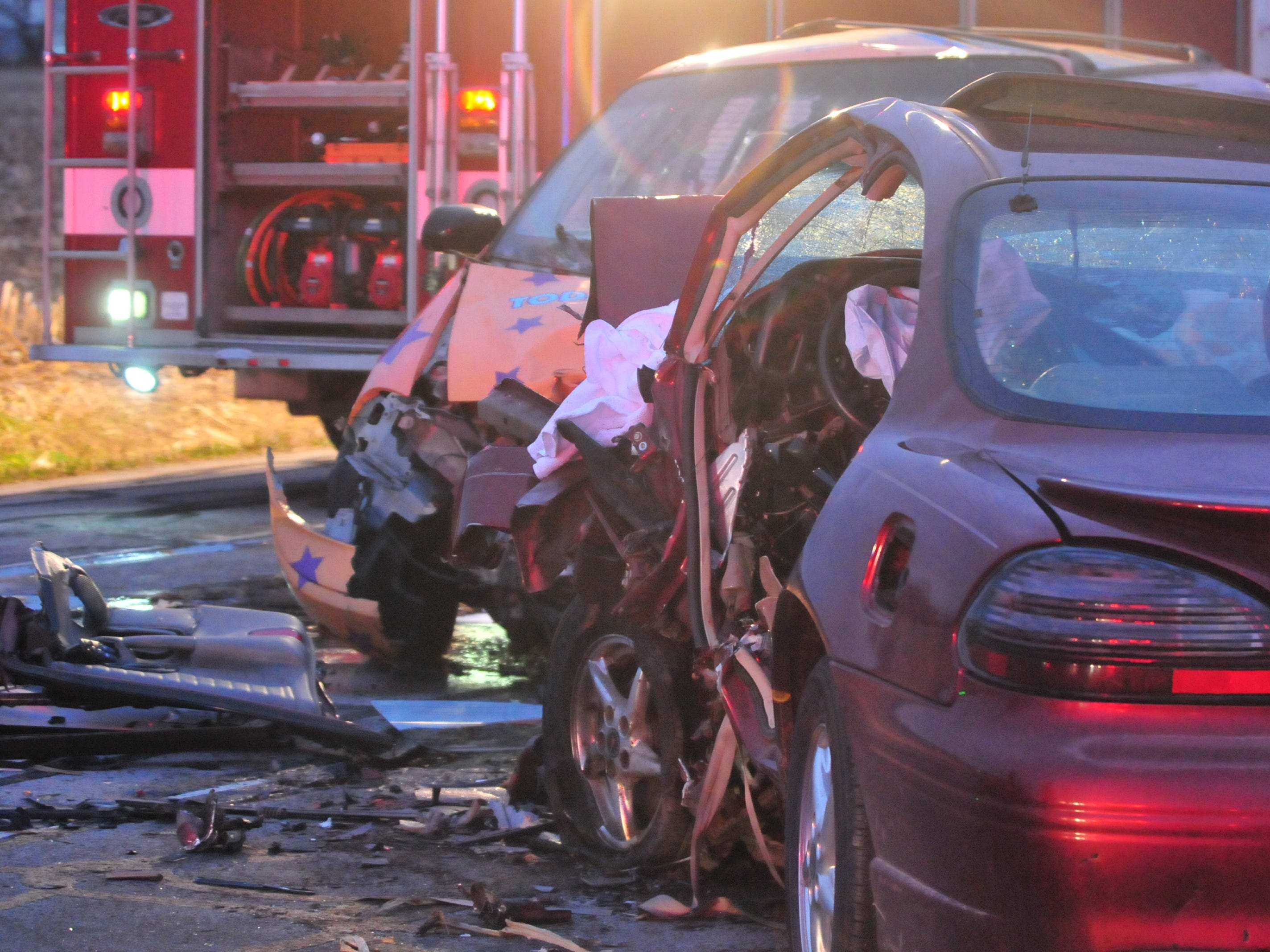 A Pontiac Grand Prix and a Ford van were involved in an accident Tuesday on Salisbury Road just north of Rich Road.