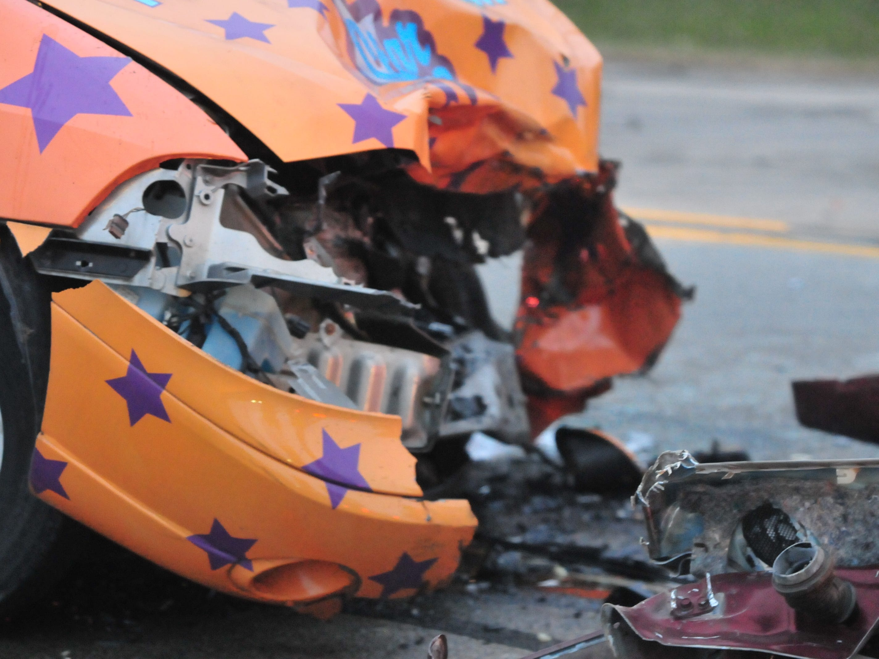 A Ford van was damaged Tuesday during a head-on collision with a Pontiac Grand Prix on Salisbury Road.