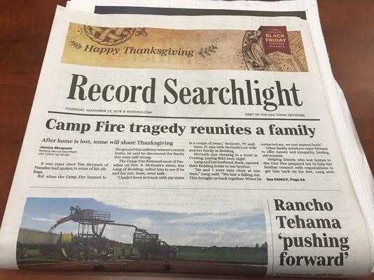 Record Searchlight Thanksgiving Day 2018