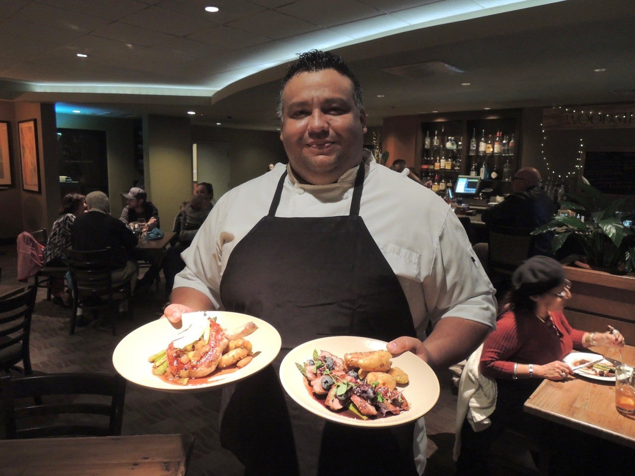 Josh Lozoya, the new executive chef  at the Woodside Grill in Anderson, was raised on a farm in south Shasta County.