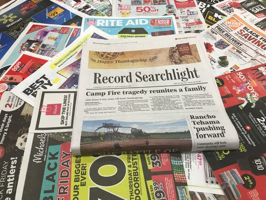 The Record Searchlight's Thanksgiving Day edition