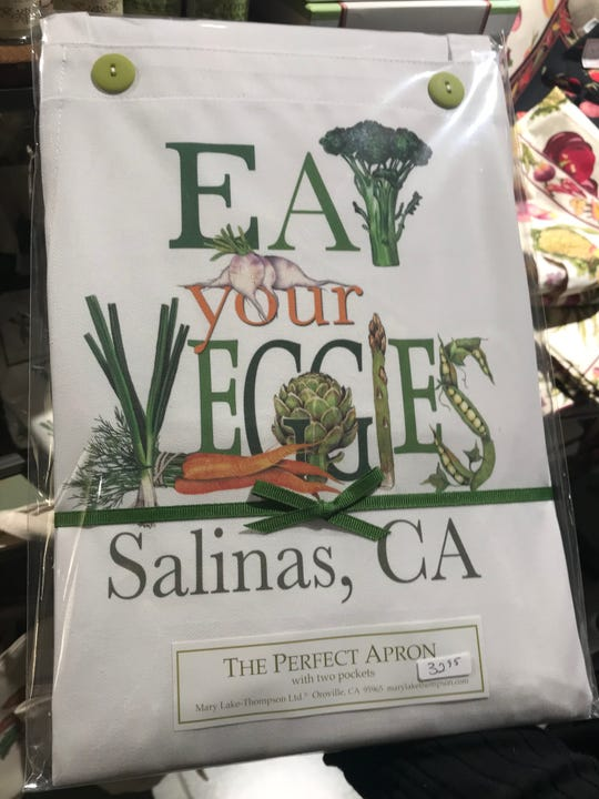 Salinas-themed products are available throughout Oldtown, including these at Gifts on the Go, for Small Business Saturday