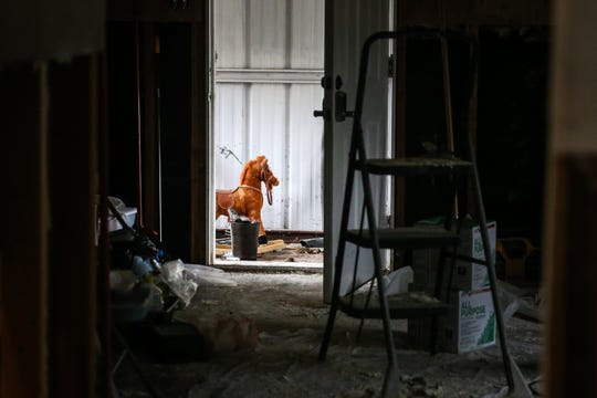 The home of Sonora Police Chief Arturo Fuentes is progress of repairs Nov. 8, 2018, after the Sept. 21 flood.