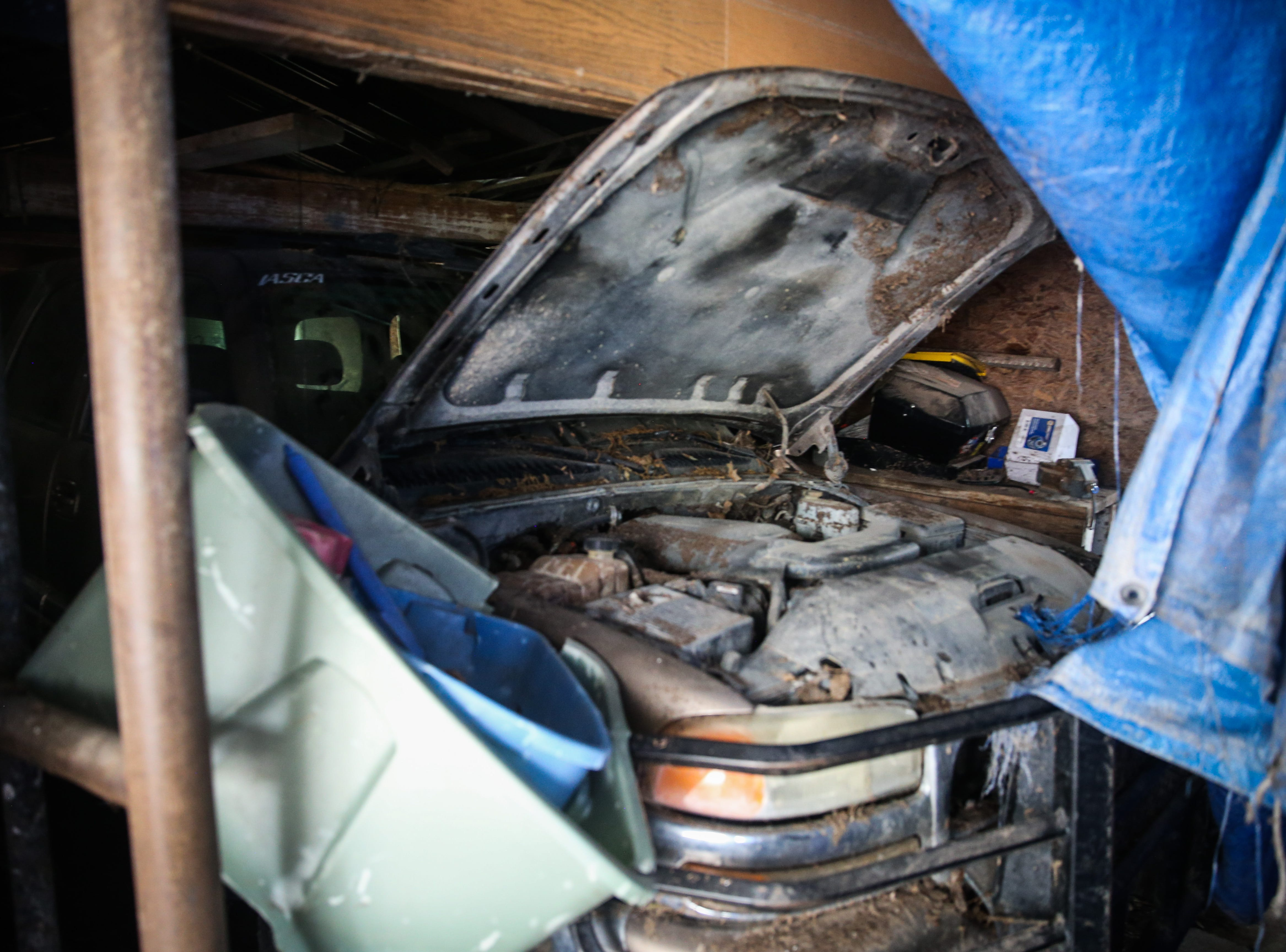 Felip DeHoyos' car is damaged Nov. 8, 2018, after it flooded during the Sept. 21 flood in Sonora.