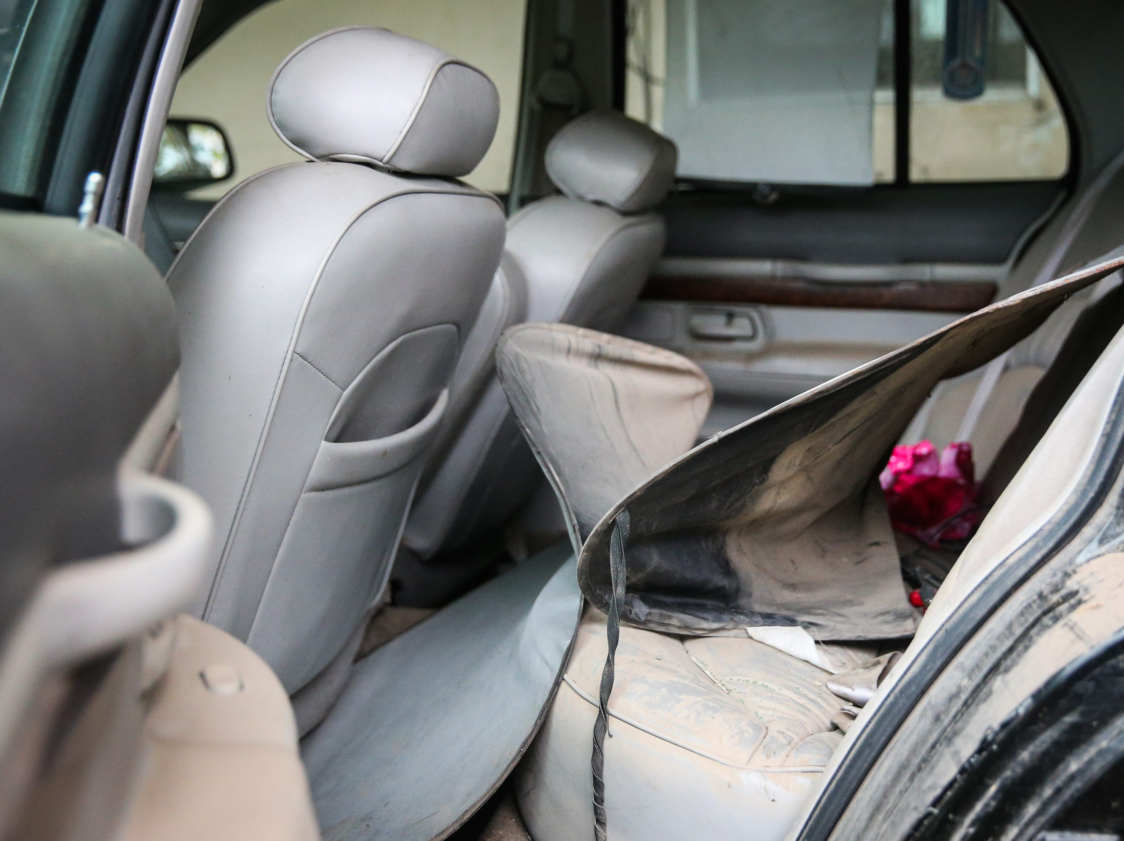 Sarah Webb's car is not operational Nov. 8, 2018 after it was flooded during the Sept. 21 flood.