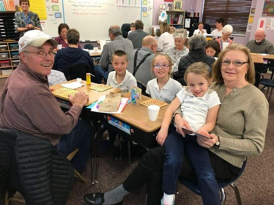 St. Katharine Drexel students welcome grandparents and special guests for an open house and morning of Bingo on Wednesday to give thanks for all the support grandparents give throughout the year.