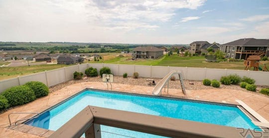 A view from the covered deck overlooking the pool at 1005 N. Sioux Boulevard in Brandon, which sold for $615,000, topping our home sales list for the week ending Aug. 31.