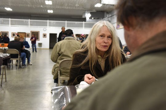 Mary Johnson eats dinner at The Banquet West in Sioux Falls, S.D., Tuesday, Nov. 20, 2018.