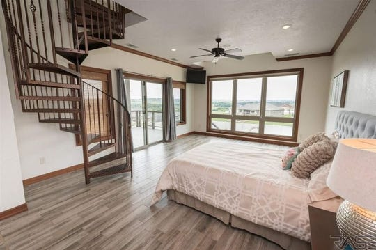 The master bedroom at 1005 N. Sioux Boulevard in Brandon, which sold for $615,000, topping our home sales list for the week ending Aug. 31.