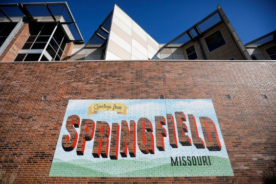 """The Discovery Center in downtown Springfield with its """"Greeting from Springfield, Missouri"""" mural is shown in a 2018 file photo."""